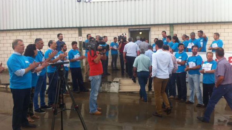 Concentración de trabajadores de Acorex