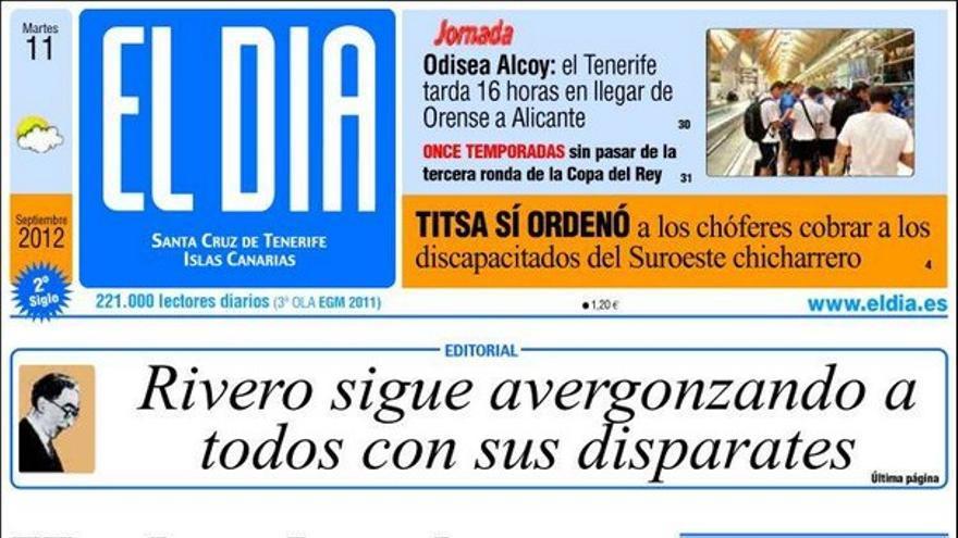 De las portadas del día (11/09/2012) #3