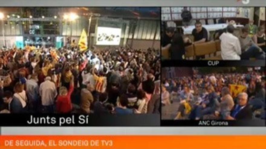 TV3 (26.6%), líder absoluta en Cataluña con su cobertura electoral