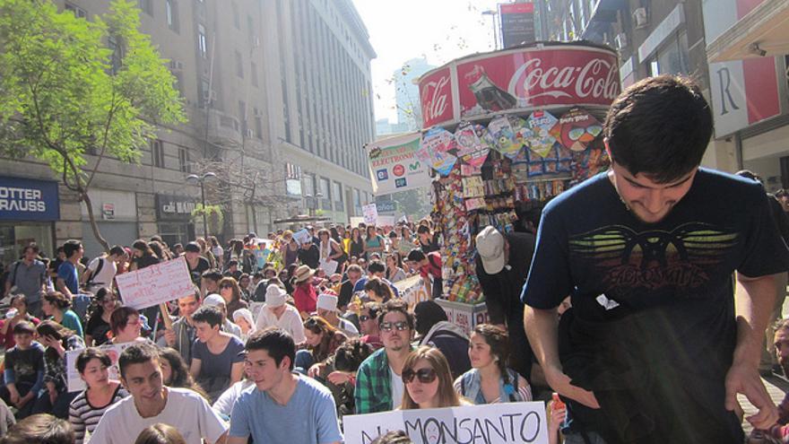 Marcha contra la Ley Monsanto en Chile/ Foto: Flikr (Mapuexpress)