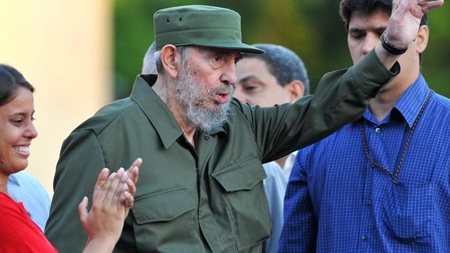 Fidel Castro durante la celebración por sus 90 años en La Habana.