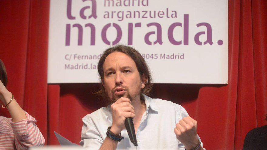 Pablo Iglesias, en la presentación de 'España. Un proyecto de liberación' en La Morada de Podemos
