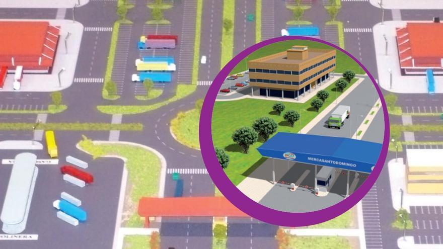 Imagen del proyecto del mercado de Santo Domingo que investiga la Audiencia Nacional junto con el merca de Angola.
