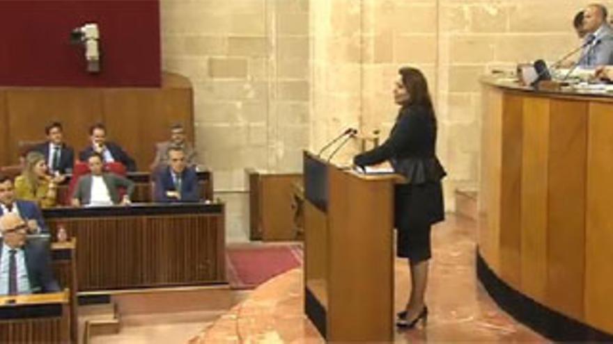 Carmen Crespo en la defensa de la PNL.