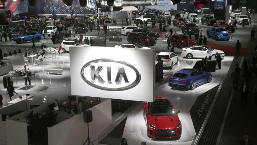 Vista general del AutoMobility LA en el Centro de Convenciones en Los Ángeles, California (EE.UU.).