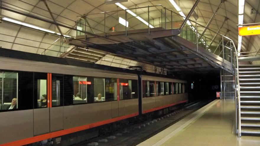 El Metro reanuda su servicio habitual tras adelantar la conclusión de las obras del paso inferior de Sopelana
