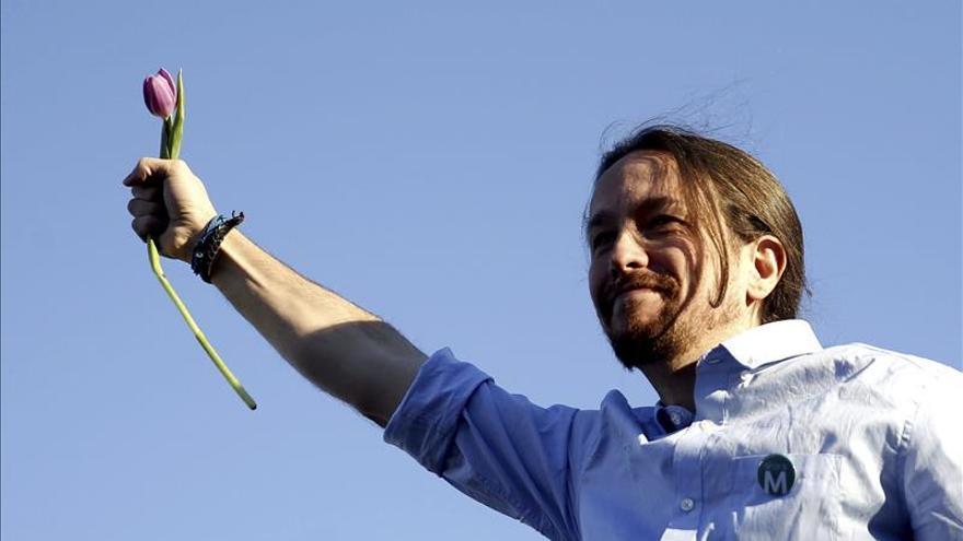 """Pablo Iglesias dice que """"hoy es una etapa fundamental del cambio que va a haber en España"""""""
