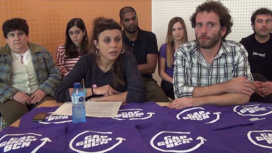 María Rovira, portavoz de las TPM, en presentación de lo aprobado en la asamblea / TPM