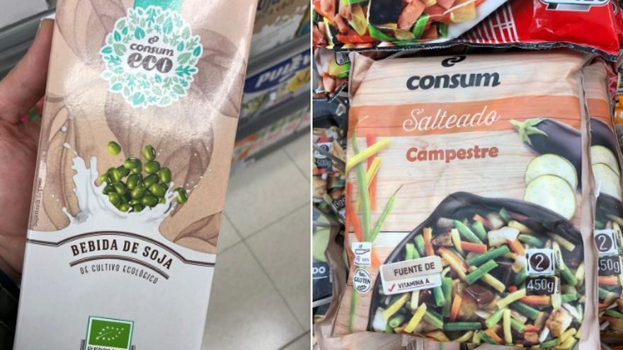 Imatge dels productes de Consum retolats ja sols en castellà
