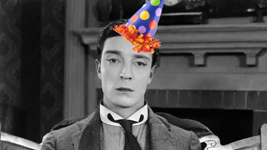 Buster Keaton os desea un feliz Día de la Liberación del Feliz Cumpleaños