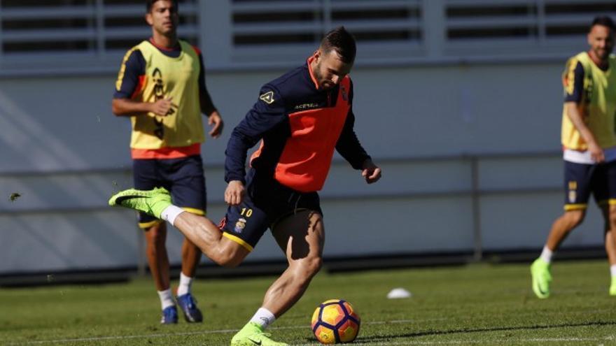 Jesé Rodríguez entrenando en Barranco Seco con la UD Las Palmas.