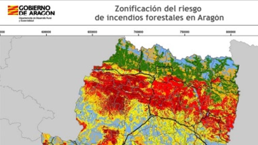 Este es el nuevo mapa de las zonas de riesgo de incendio de la comunidad