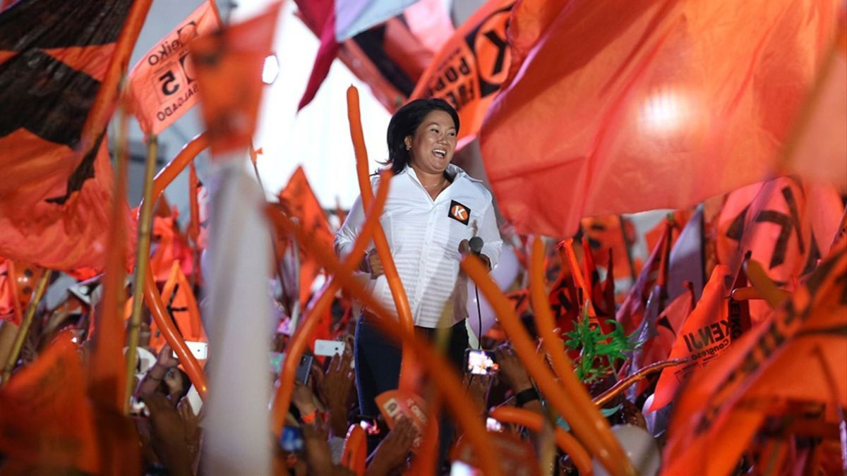 La candidata peruana Keiko Fujimori