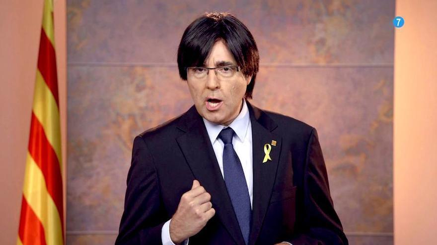 Telecinco disfraza a Raúl Pérez de Puigdemont por el 11 de septiembre, Día de Catalunya