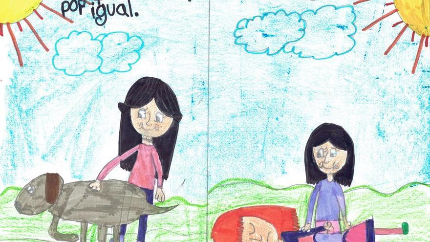 Dibujo de Jimena, alumna de 4º de Primaria en el 'C.E.I.P. Melquiades Hidalgo' de Cabezón de Pisuerga (Valladolid)