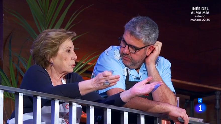 Celia Villalobos y Florentino Fernández en 'MasterChef Celebrity 5'