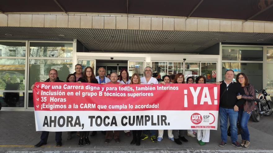 """UGT exige en el Hospital de Caravaca la recuperación de los derechos laborales """"usurpados"""""""
