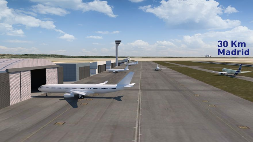 Instalaciones del futuro Aeropuerto Madrid Sur
