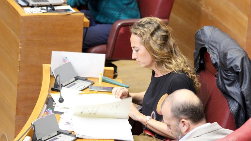 Carolina Punset, en las Corts Valencianes.