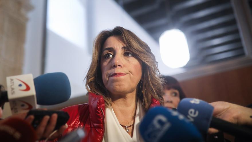"""Susana Díaz denuncia la """"complicidad"""" de PP-A con Vox sobre un pin parental que no se podrá """"aplicar porque es ilegal"""""""