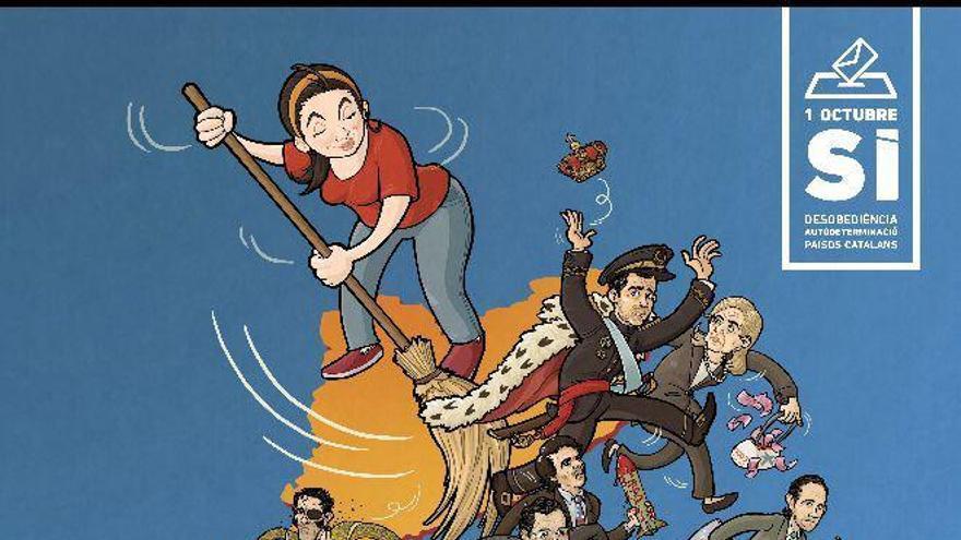 Cartel de la campaña 'Escombrem-los' de la izquierda independentista