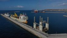 Buques atracados en el puerto de Granadilla, en Tenerife