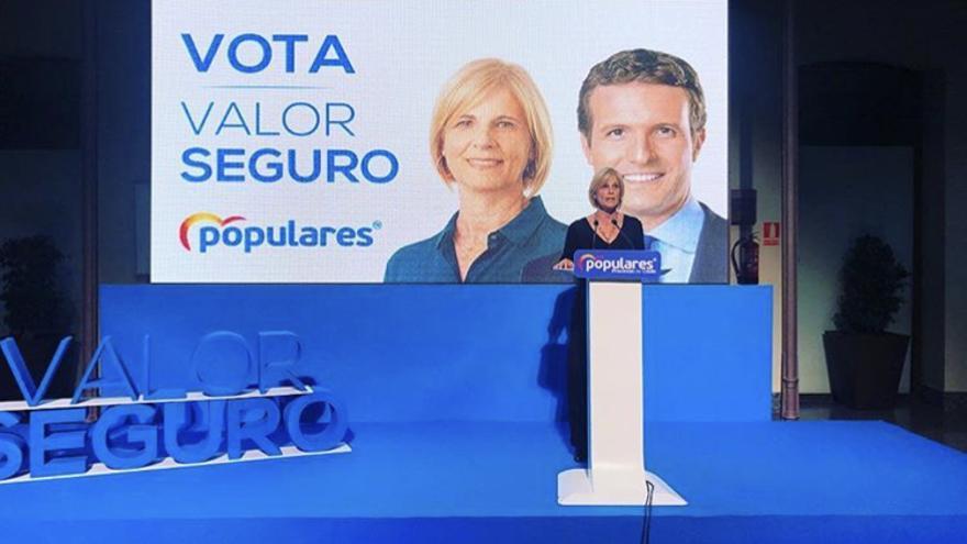 María José García Pelayo en un acto de campaña para las elecciones generales del pasado abril
