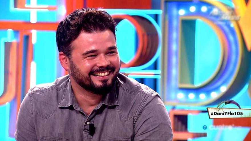 """Gabriel Rufián: """"Quien no haya visto el primer OT no merece ser de izquierdas"""""""