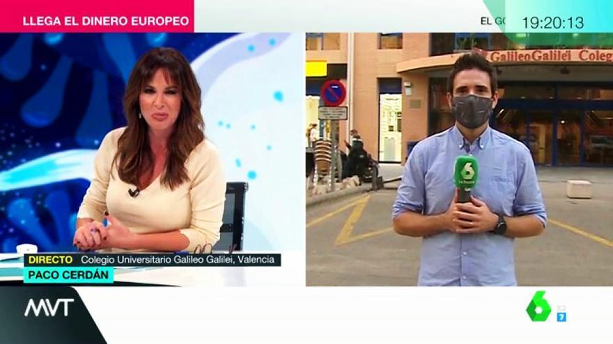 Mamen Mendizábal y Paco Cerdán en 'Más vale tarde'