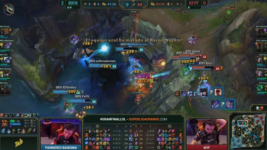 Un momento de la final de Superliga de League of Legends entre Baskonia y KYIF
