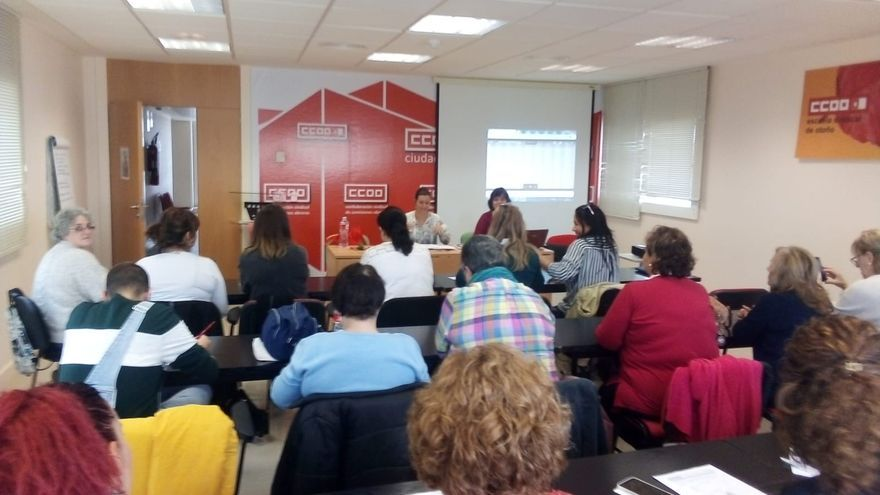 Asamblea de trabajadores y trabajadoras de la Dependencia en Ciudad Real