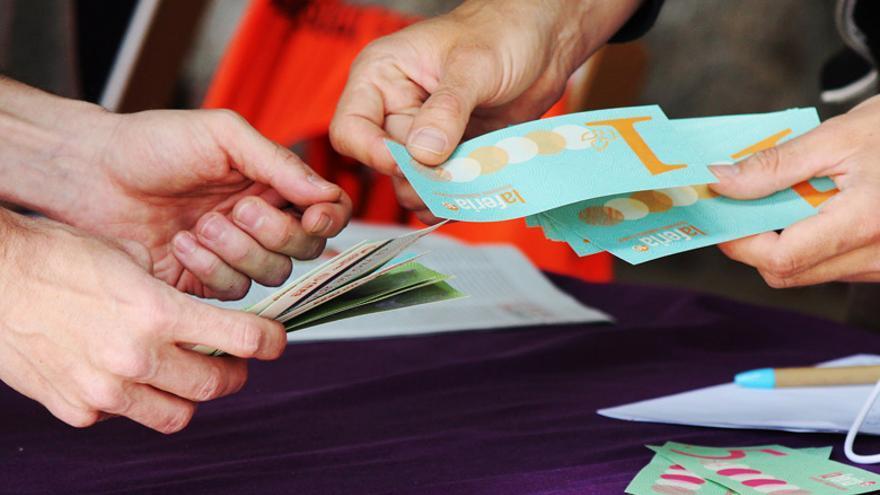 Método de pago conocido como boniato.   Imagen cedida.