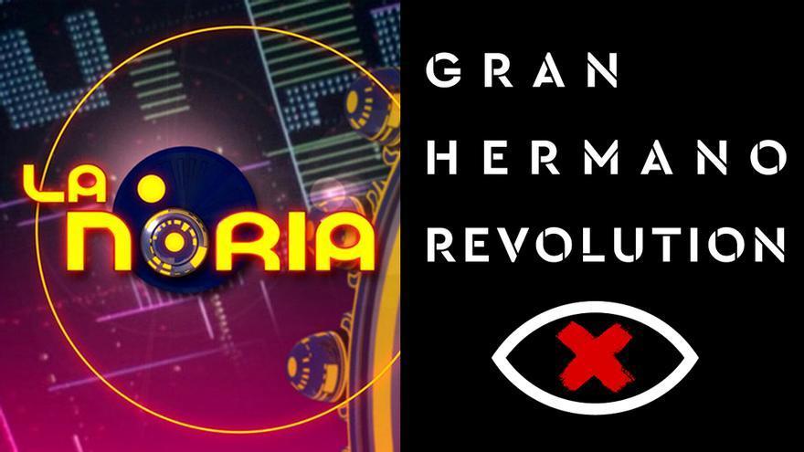 Logotipos de 'La Noria' y 'Gran Hermano Revolution'
