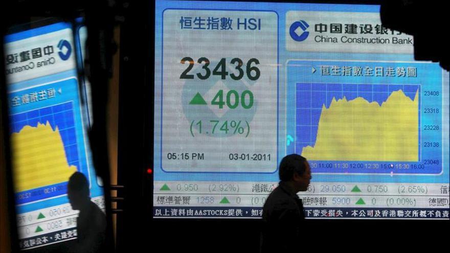 Hong Kong avanza un ligero 0,18 por ciento a media sesión