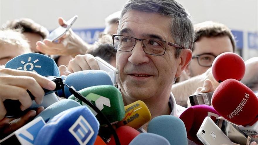 Patxi López: La ejecutiva nace con toda la legitimidad de una gran mayoría