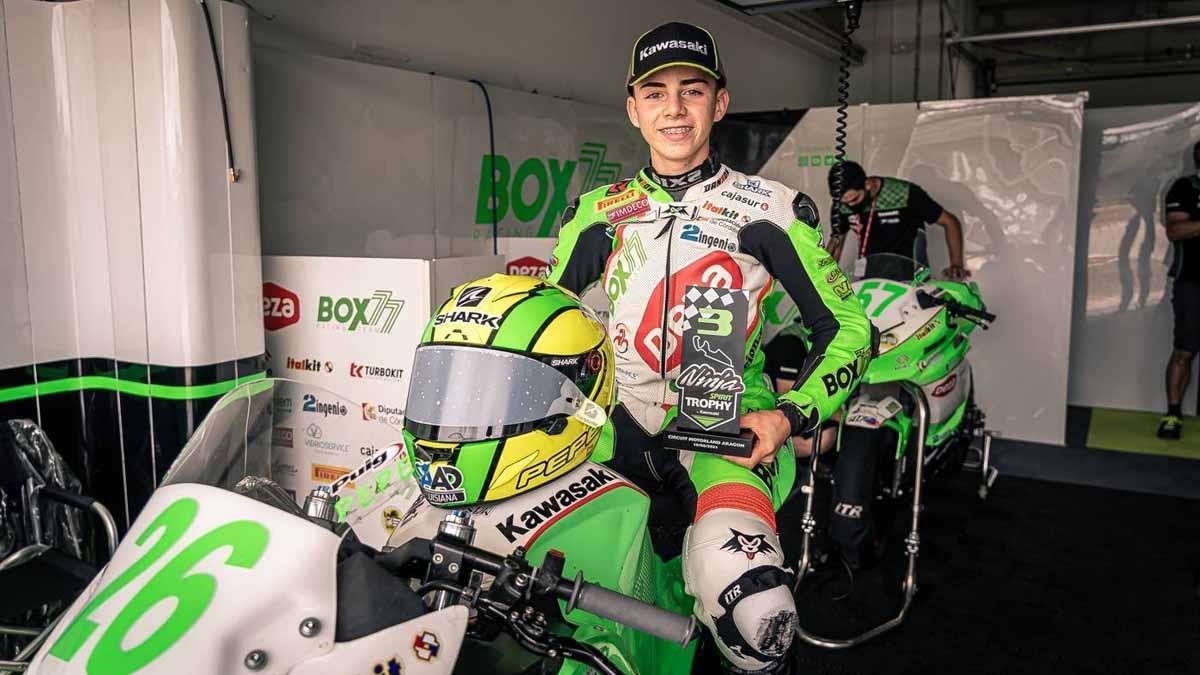 Pepe Osuna, tras su tercer puesto en Motorland Aragón
