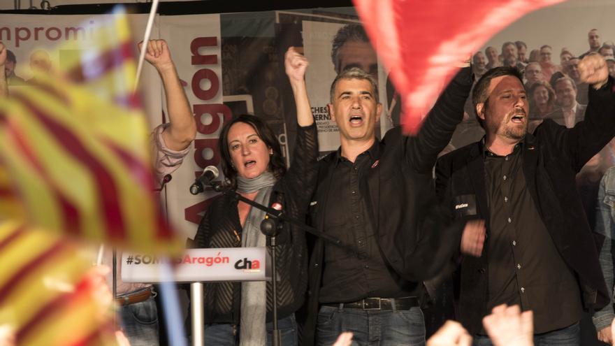 Acto electoral de CHA, mayo 2015. Foto: Javier Castejón