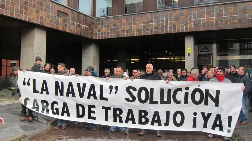 El Comité de La Naval se encerrará este martes en el astillero para reclamar carga de trabajo
