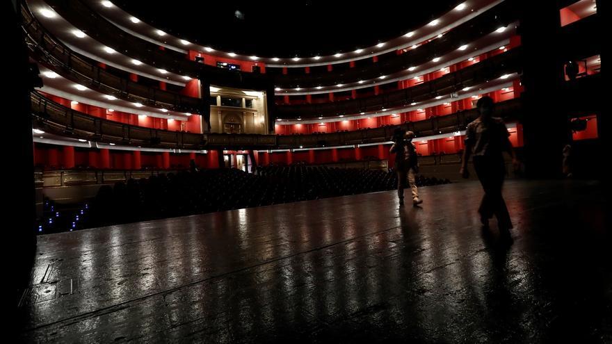 Vista del interior del Teatro Real que reabre sus puertas para presentar, presencialmente, la temporada 2020-2021.