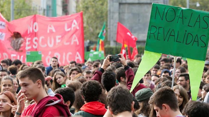 Los estudiantes, convocados otra vez a la huelga pese a los cambios en las reválidas