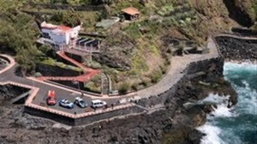 Litoral en el que se produjo el suceso, en el norte de Tenerife, municipio de Tacoronte