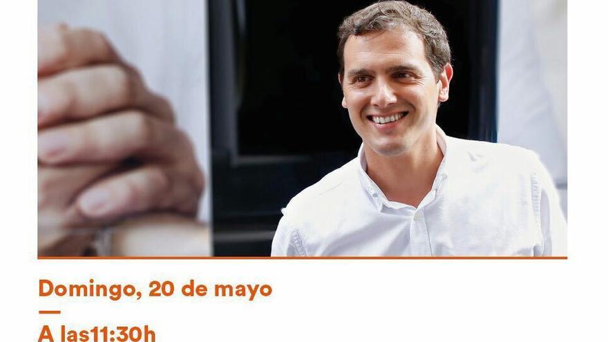 Imagen de la convocatoria del acto de Rivera en Madrid