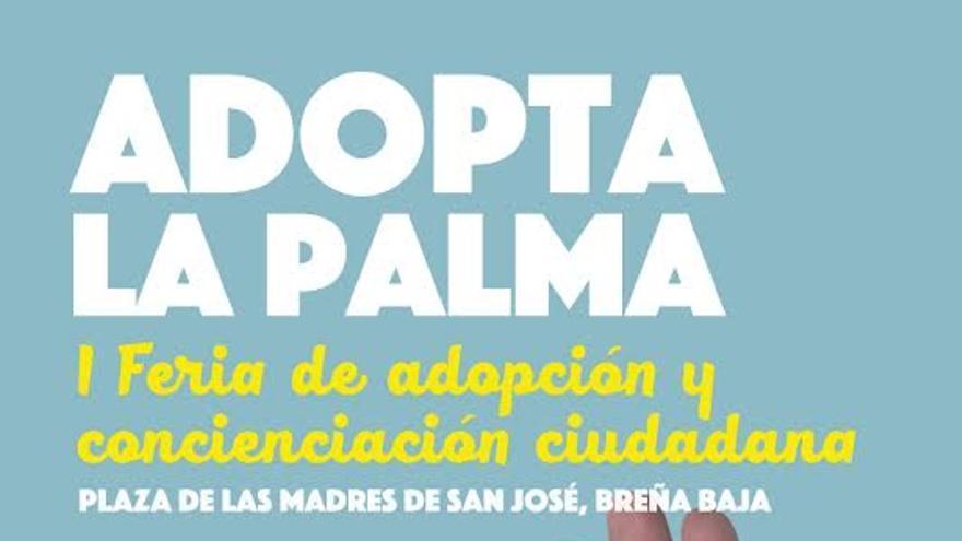 Cartel de la 'Feria de Adopción de Perros' de La Palma.