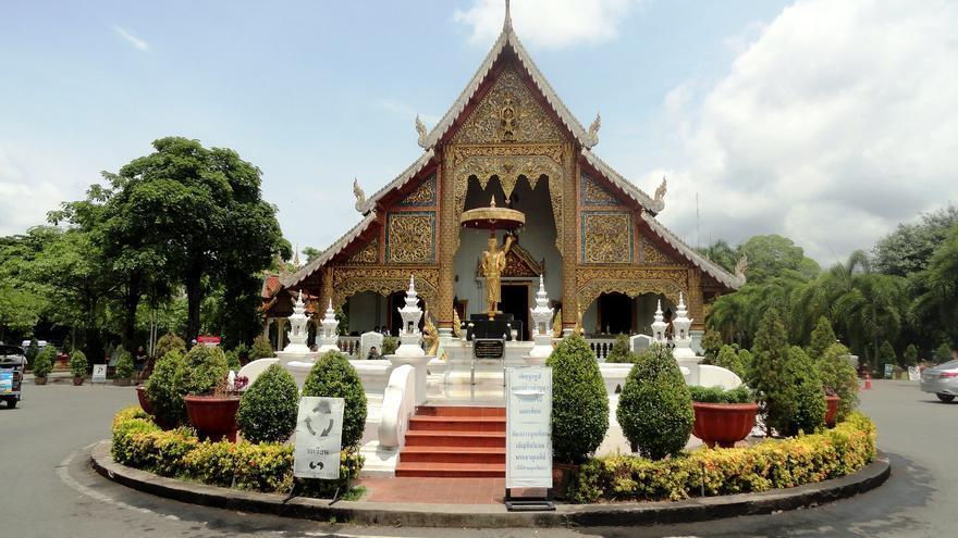 Pequeño templo en la ciudad vieja de Chiang Mai. Fabio Achilli
