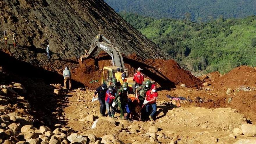 España muestra su pesar a Birmania por las víctimas de la avalancha de tierra