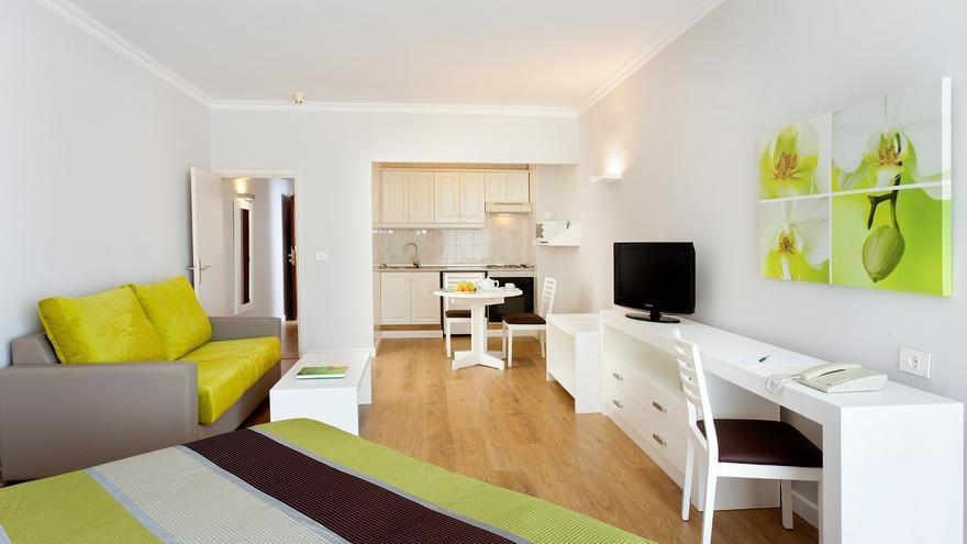 Interior de una habitación del establecimiento hotelero localizado en el norte de Tenerife
