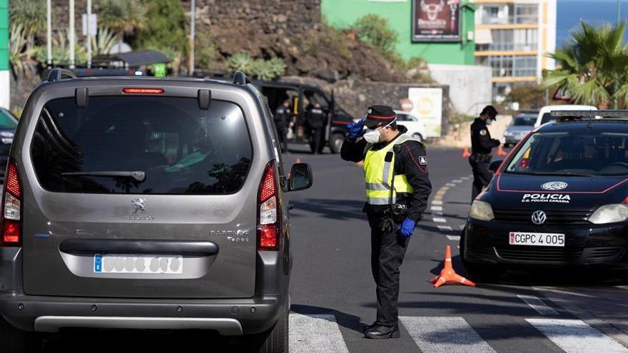 Controles de tráfico en Santa Cruz de Tenerife