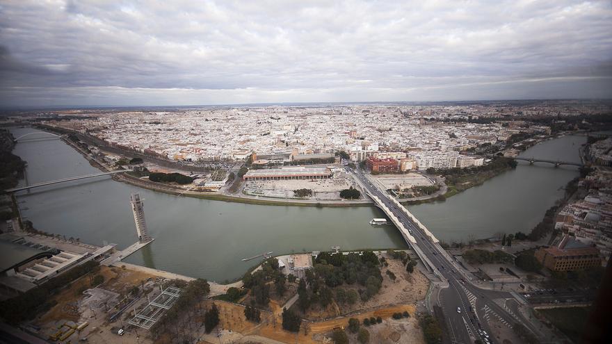 Dársena del Guadalquivir, donde antes se encontra el tapón de Chapina. FOTO: Luis Serrano