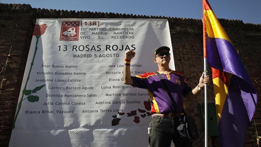 Homenaje a las Trece Rosas en el 74 aniversario de su muerte
