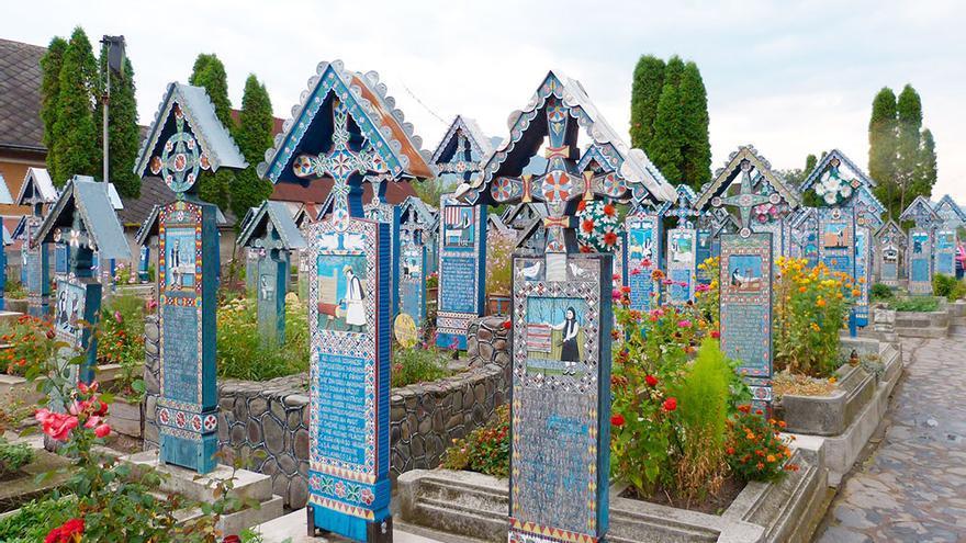 Cementerio alegre de Sapanta, Rumanía